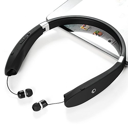 Bluetooth-Headset-Bluetooth-41-Wireless-Stereo-Headphones-Earphones-Neckband-with-Retractable-and-Foldable-Design-Style-Earbuds-with-Mic-for-IOS-and-Android-Cell-Phones