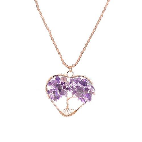 Pendant Crystal Necklace Gemstone Valentines