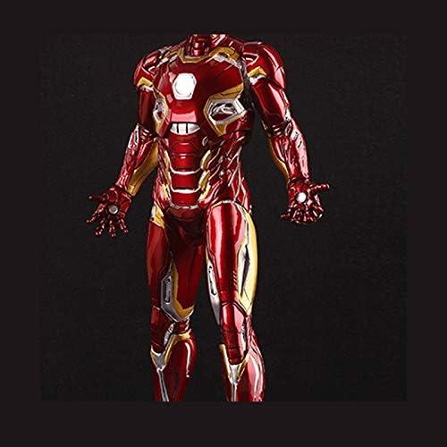 Statue Personnage du Film Model Car Iron Man Mark45 Mod/èle Rouge Statue Anime D/écoration Haute 30cm ZZBiao
