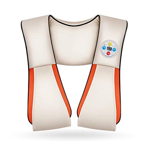 Neck Massager Neck Shoulder Waist Neck Beating Massage Shawl Timing Home Multifunction Cervical Massager, White ()