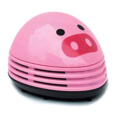 - niceeshop(TM) Electric Desktop Vacuum Cleaner Mini Dust Cleaner Pink Pig Prints Design
