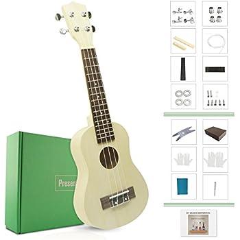 Amazon du one electronic diy ukulele usb midi electric guitar diy ukulele kit make your own ukulele soprano hawaii ukulele kit with installation tools screwdriver spanner sanding sponge model du b diy ukulele solutioingenieria Gallery