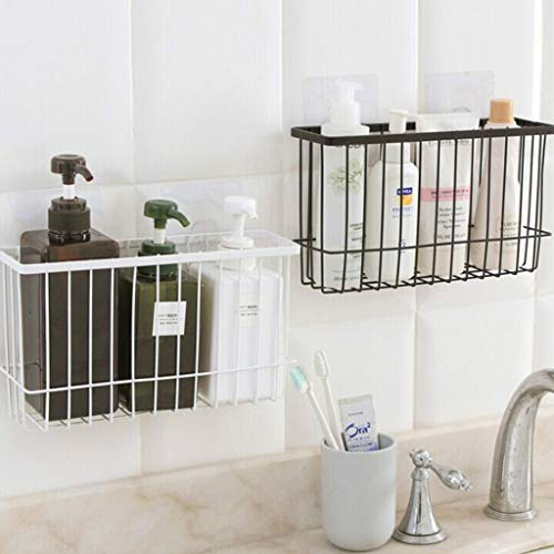 - Yu2d Kitchen Free Punch Wrought Iron Rack Household Shelf Storage Rack(Black)