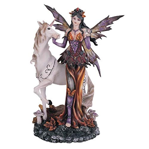 StealStreet SS-G-91563, Purple Orange Fairy with Unicorn Collectible Figurine Decor