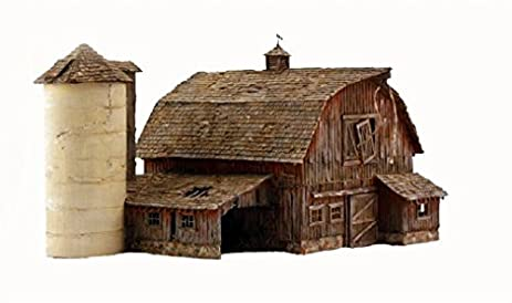 amazon com woodland scenics br5038 ho old weathered barn by