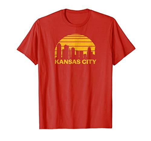 Vintage Kansas City Cityscape Retro Graphic T-Shirt