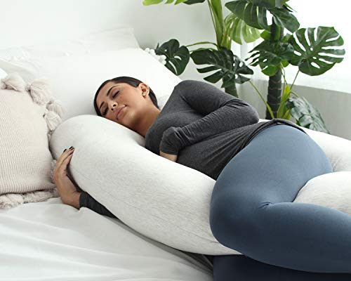 PharMeDoc Pregnancy Pillow, U-Shape Full Body Pillow and Maternity Support with Detachable Extension - Support for Back, Hips, Legs, Belly for Pregnant Women by PharMeDoc (Image #2)
