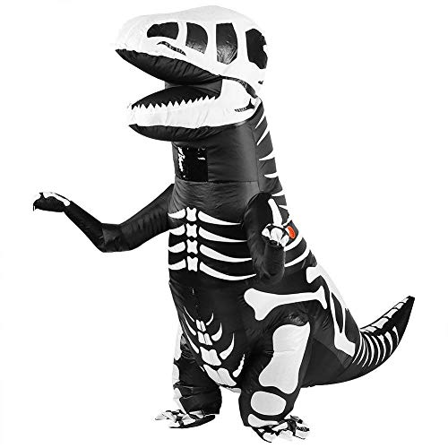 Inflatable Bone Dinosaur Costume T-rex Easter Costumes Funny Toys for Adult (Black Dinosaur) -