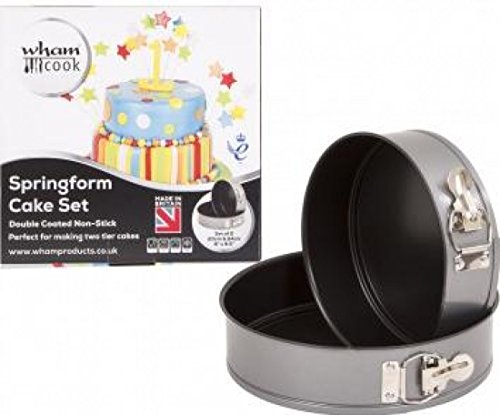 Wham Cook Springform Cake Tin Baking Set Non-Stick 20/24cm 2 Piece | 51575