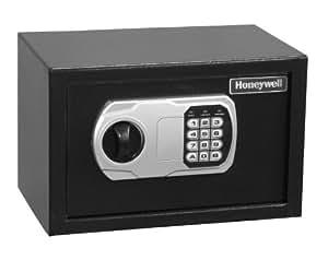HONEYWELL - 5101DOJ Approved Small Security Safe with Digital Lock, 0.27-Cubic Feet, Black