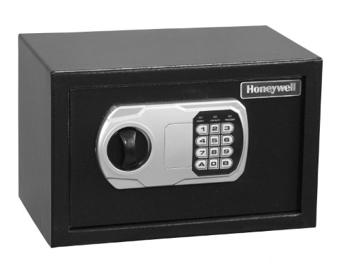 Honeywell 5101DOJ Approved Small Security Safe with Digital Lock, 0.36-Cubic Feet, Black