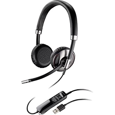 """Plantronics, Inc - Plantronics Blackwire C720-M Headset - Stereo - Usb - Wired/Wireless - Bluetooth - Over-The-Head - Binaural - Supra-Aural - Noise Cancelling Microphone """"Product Category: Audio Electronics/Headsets/Earsets"""""""