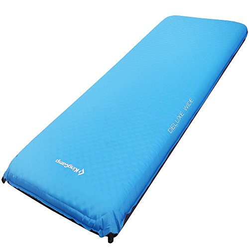 - KingCamp DELUXE WIDE Self-Inflating Camp Pad, 4 inches Thick