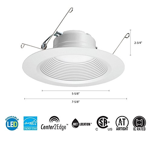 Lithonia Lighting 65BEMW LED 50K M6 5/6 Inch 11.9W White LED Recessed Baffle Module, 5000K Review