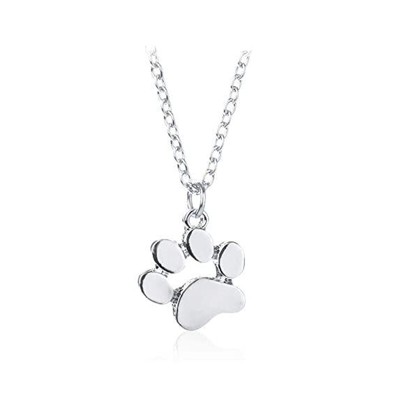 1e85a31038c1c1 LnLyin Cute Dog Paw Pendant Necklace Simple jewelry for Women Girls: Amazon. co.uk: Kitchen & Home
