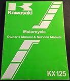 1986 KAWASAKI MOTORCYCLE KX 125 OWNER'S SERVICE MANUAL READ (413)