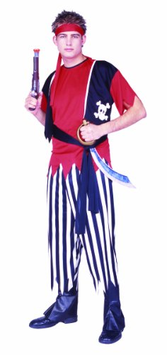 RG Costumes Buccaneer Pirate, Black/White/Red, One Size