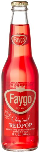 Faygo Red Pop (Faygo RED POP FROM THE MOTOR CITY DETROIT, MICHIGAN!, 12-Ounce Glass Bottles with Organic Paint (Pack of 12))