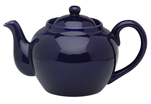 HIC Teapot with Stainless Steel Infuser, 71/374-6C,  6-Cup / 32-Ounce, Cobalt