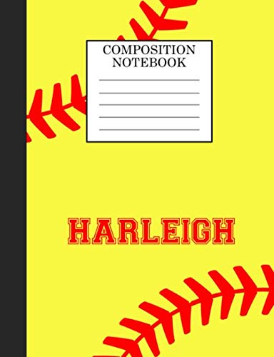 Harleigh Composition Notebook: Softball Composition Notebook Wide Ruled Paper for Girls Teens Journal for School Supplies | 110 pages 7.44x9.269 por Sarah Blast