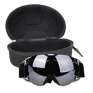 f3c9cf2e35b Image Unavailable. Image not available for. Color  Taco Mocho Unisex Double  Lens UV400 Big Ski Mask Glasses Skiing Goggles Anti-Fog Ski