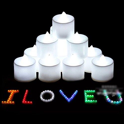 HuntGold 12 Pcs couleurs LED Bougie /électronique lumi/ère Lampe th/é Bougies romantique blanc