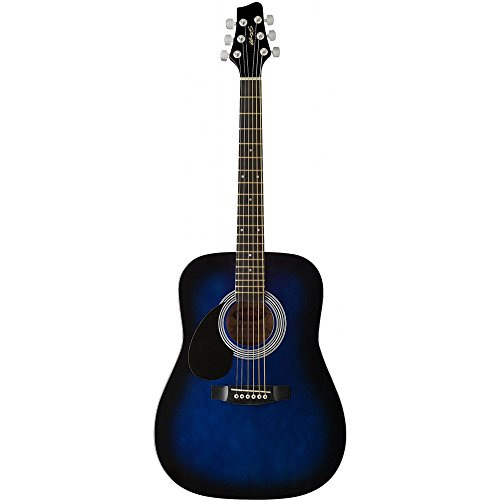 Stagg SW201 3/4 LHBLS Left Handed, 3/4 Size Dreadnought Acoustic Guitar - Blueburst