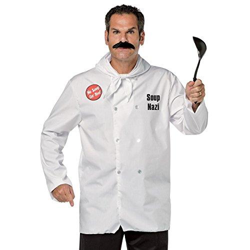Rasta Imposta Men's Seinfeld Soup Nazi, White, One Size