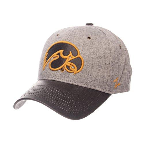 - Zephyr NCAA Iowa Hawkeyes Adult Men The Supreme Cap, Adjustable, Gray