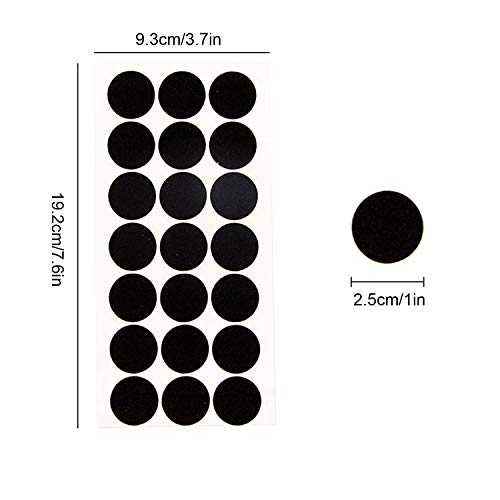 200 Count, Black 1 Inch Adhesive Felt Circles; Adhesive Felt ...