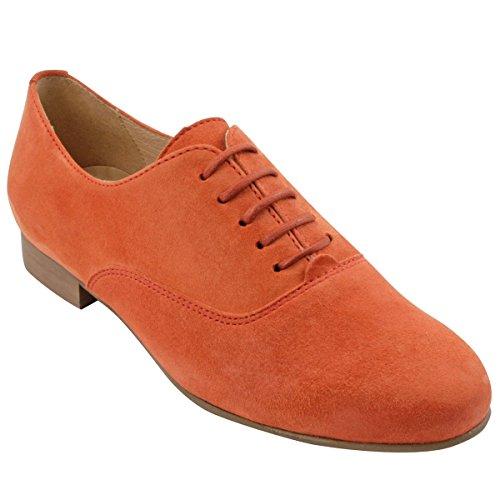 Zapatos de Exclusif Mujer para Cordones Paris Naranja HSxnxqvw