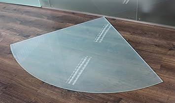 Tropfen *Frosty* 110cm Funkenschutzplatte Milchglas Kaminbodenplatte ...