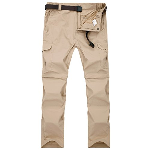 SEEU Men's Outdoor Pants, Lightweight Water Resistant Convertible Camping Travel Trail Pant 36/38/40/42