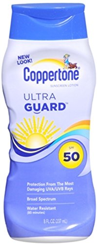(Coppertone UltraGuard Sunscreen Lotion SPF 50 8 oz (Pack of 4))