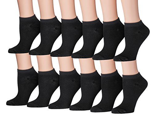 Tipi Toe Women's 12-Pairs Colorful Patterned No Show Socks )