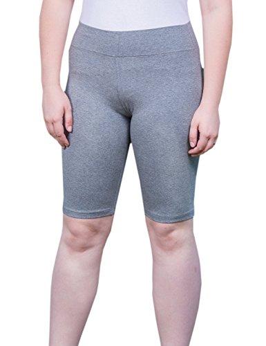Knee Length Spandex Shorts - 9
