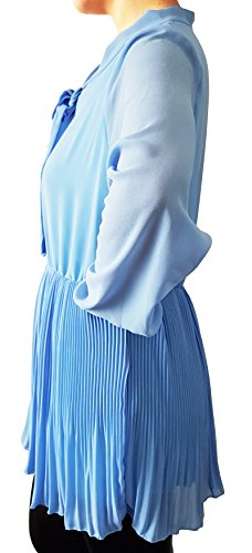 Chemisier en col lavallière - Bleu - Taille unique