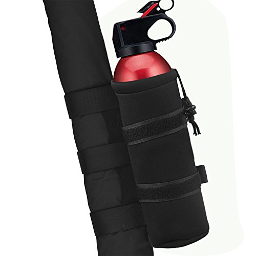 - 1PC Black Roll Bar 2.5 lb Fire Extinguisher Holder Bag For Jeep Wrangler Car Truck 4x4 UTV MINGLI Vehicle Extinguisher Strap Mount Bracket Strap