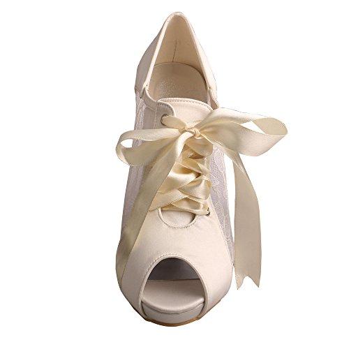 68c15f7b6 Wedopus MW719 Women's Peep Toe Lace-up Boots High Heel Lace Platform Wedding  Bridal Pumps