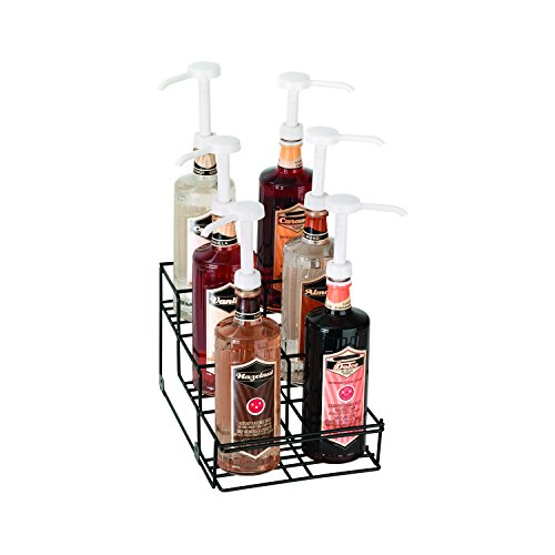 Dispense-Rite WR-BOTL-6 Six Compartment Wire Bottle Holder