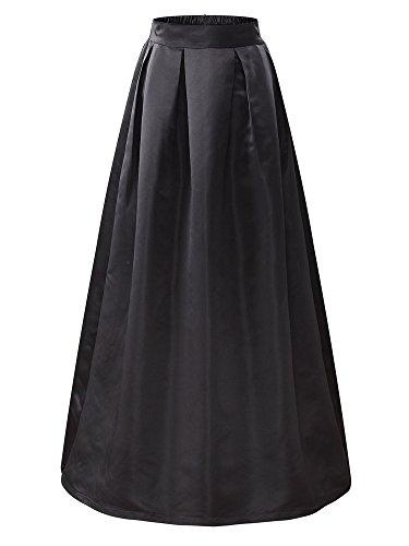 Black Satin Skirt: Amazon.com