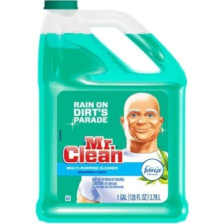 Mr. Clean Meadows & Rain Multi-Surface Cleaner with Febreze, 128 fl oz (1)