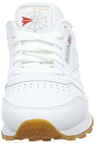 Reebok Classic Leather Zapatillas, Mujer Blanco (Int-White / Gum)