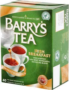 Barrys Tea Irish Breakfast 40 bag count x 2 (80 count) (250g) Imported from Ireland