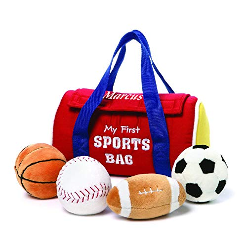GUND Personalized My First Sports Bag Stuffed Plush Playset, 5 Pieces, 8, Inches