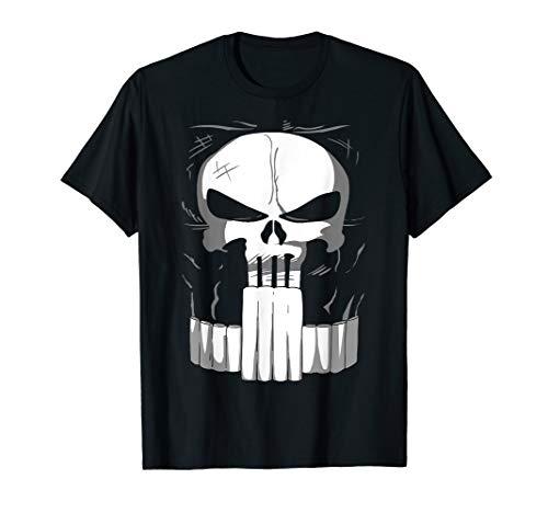 Marvel Punisher Classic Skull Halloween Costume T-Shirt -
