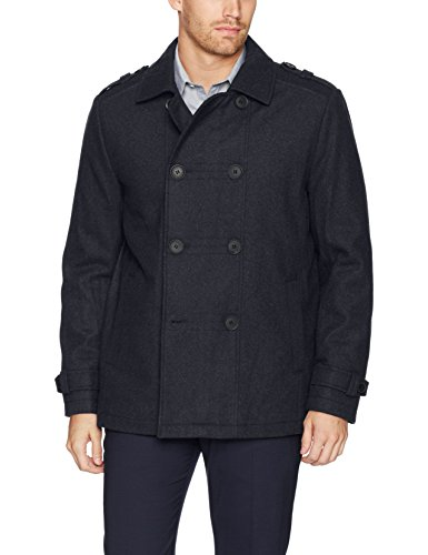 Kenneth Cole New York Men's Double Breasted Wool Jacket, Midnight, Medium by Kenneth Cole New York