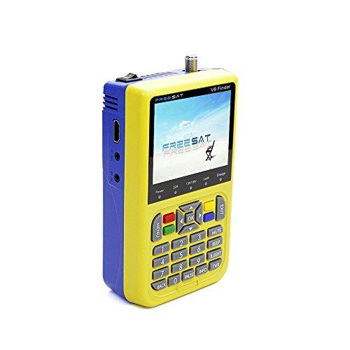 Docooler Free SAT Finder TV Signal Finder Meter V8 DVB-S/S2 HD Digital Meter 3.5 Inch LCD Dispaly 3000mAh Battery US Plug by Docooler