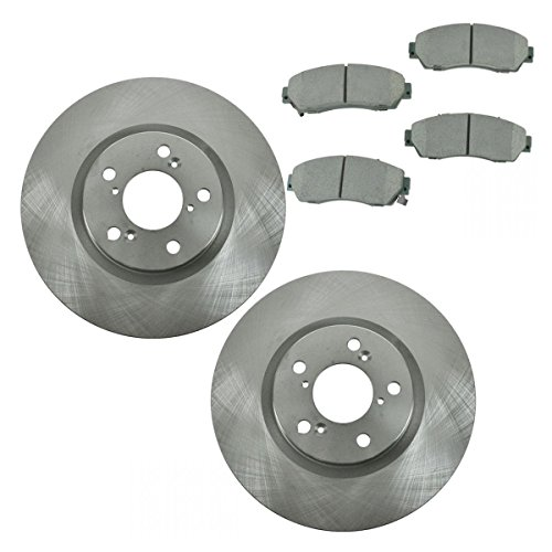 Front Premium Posi Ceramic Disc Brake Pad & Rotor Set for 11-14 Honda Odyssey