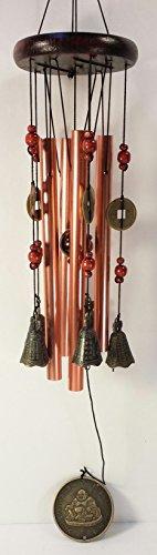 Tibetan Style Copper Colored Windchime MT-213 For Sale